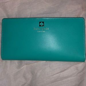 kate spade wallet turquoise